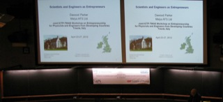 Workshop on Entrepreneurship for Physicists